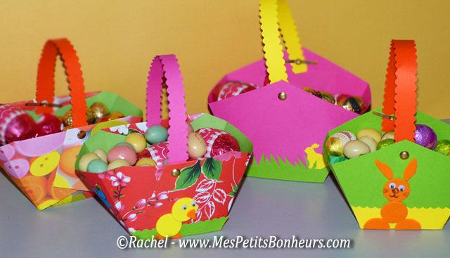 bricolage  petit panier en papier à fabriquer pour les oeufs de