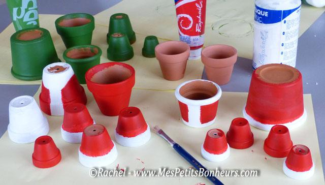 Decoration de noel avec des pots en terre my blog - Deco pot de fleur terre cuite ...