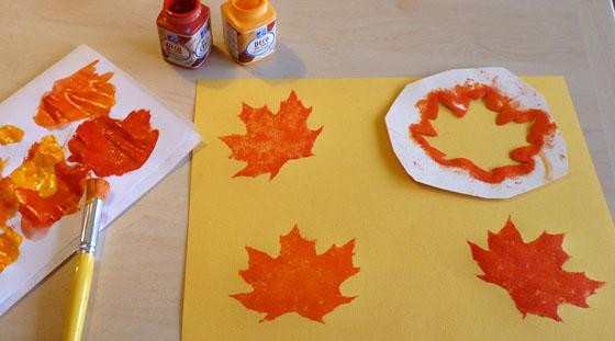Bricolage enfant feuille d automne en p te sel - Bricolage feuille d automne ...