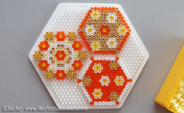 Cadeau fête des mères à fabriquer: dessous de verres en perles Hama