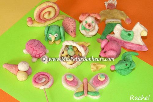Petits objets en p te sel color e faire avec les enfants - Modele de pate a sel pour petit ...