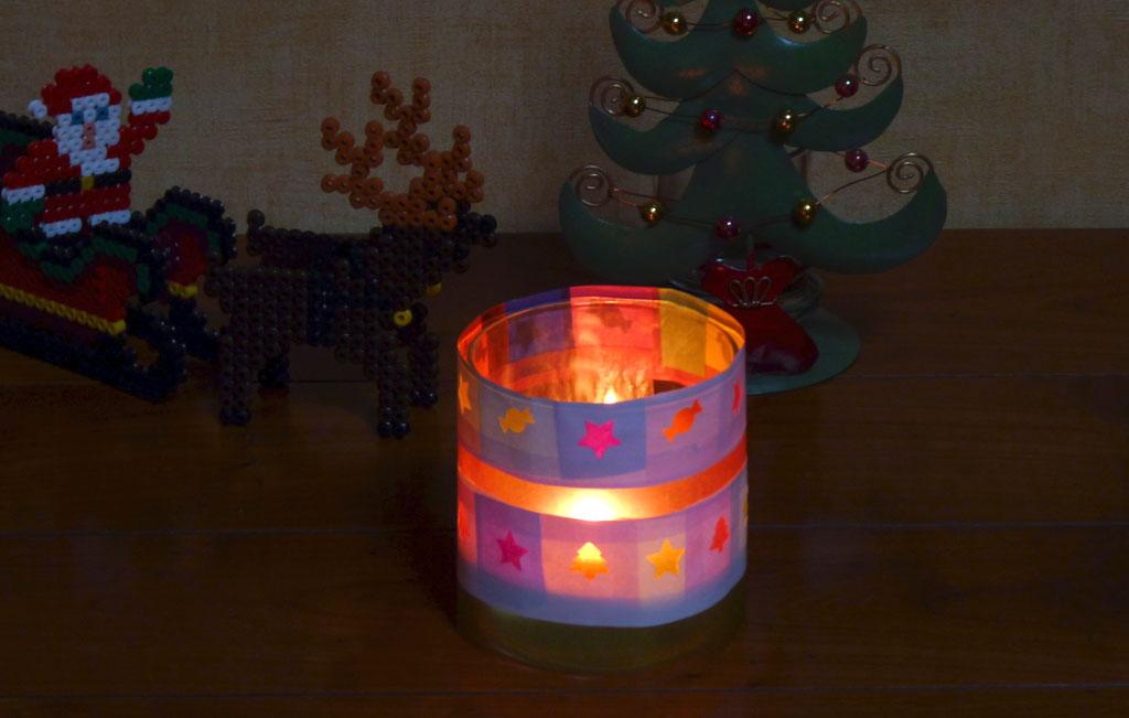 Bricolage de no l facile pour petits enfants photophore for Decoration lumignon 8 decembre