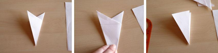 Flocons en papier plier et d couper nouveaux mod les - Flocon de neige en papier pliage ...