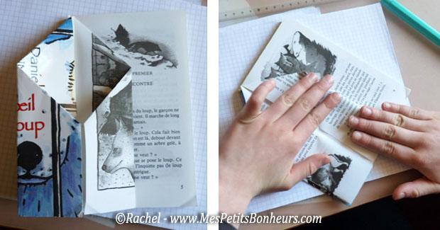 Bricolage r cup livre h risson pliage facile et rigolo - Pliage de livres de poche ...