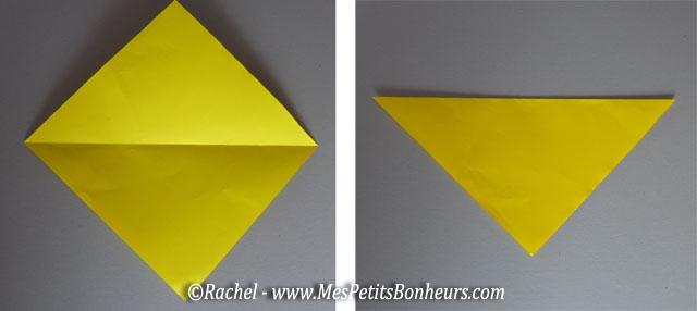 Chien en pliage origami facile activit papier faire avec petits ou grands - Plier une feuille en 3 ...