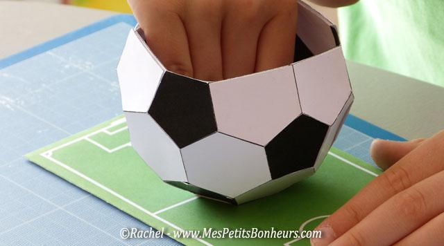 Patron ballon de foot pour gateau