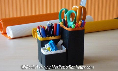Bricolage rangement crayons des pots d co avec le - Bricolage a faire a la maison ...