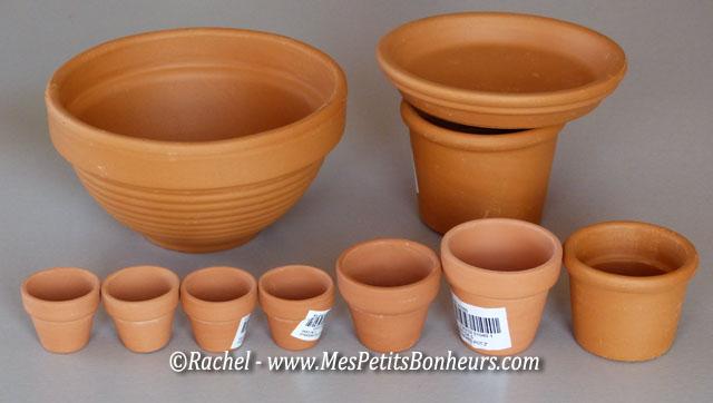 activit d co avec des minis pots de fleurs pouvantail et champignon. Black Bedroom Furniture Sets. Home Design Ideas