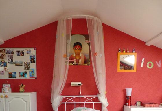 Id es d co pour chambre de fille color e et gaie - Ikea ciel de lit ...