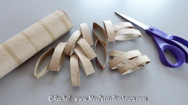 rondelles dcoupes dans un rouleau de caron - Que Faire Avec Des Rouleaux De Papier Toilette Pour Noel