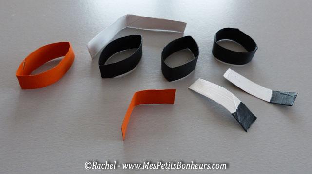 rondelles de sopalin peintes pour bricolage pingouin