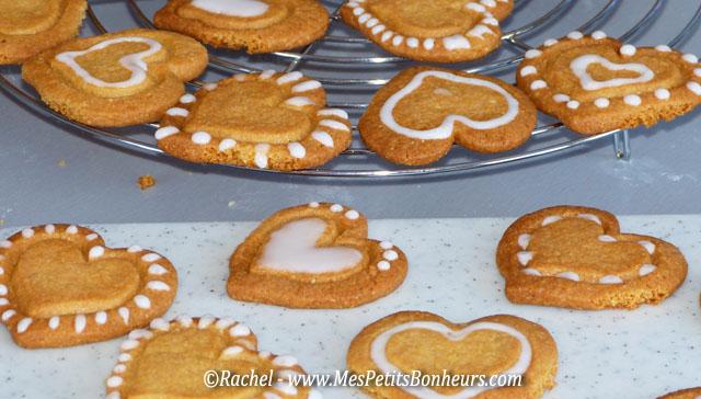 sablés coeur décor sucre blanc