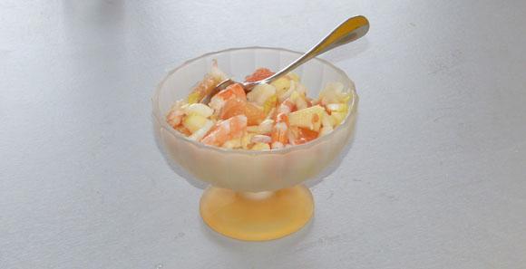 salade en coupelle