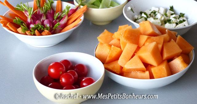 tomates cerises et melon
