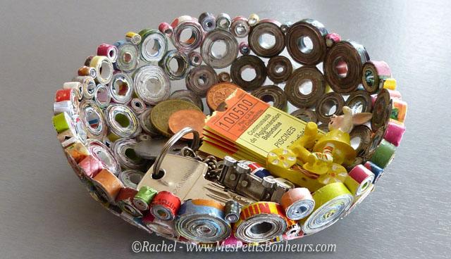 vide poche bricolage en papier recyclé