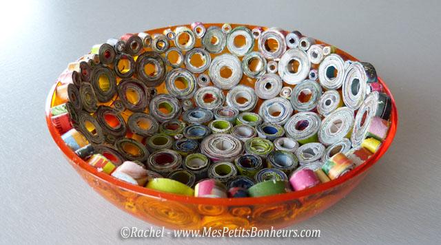 Vide poche en papier recycl id e bricolage pour la f te - Activite manuelle avec du papier ...