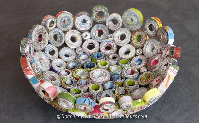 Vide poche en papier recycl id e bricolage pour la f te des p res - Comment faire des travaux manuels ...